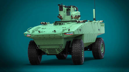 Concept of an unmanned combat vehicle by DenSQ