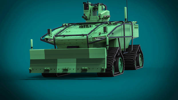 concept of an unmanned heavy combat vehicle by DenSQ