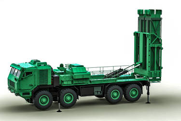 KraZ 6316 R-27 ADS towed truck launchers by DenSQ