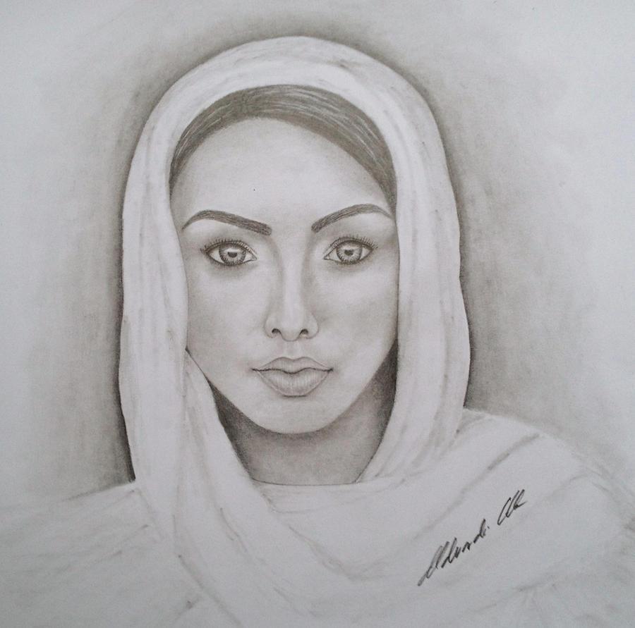 Woman portrait by Udvardi