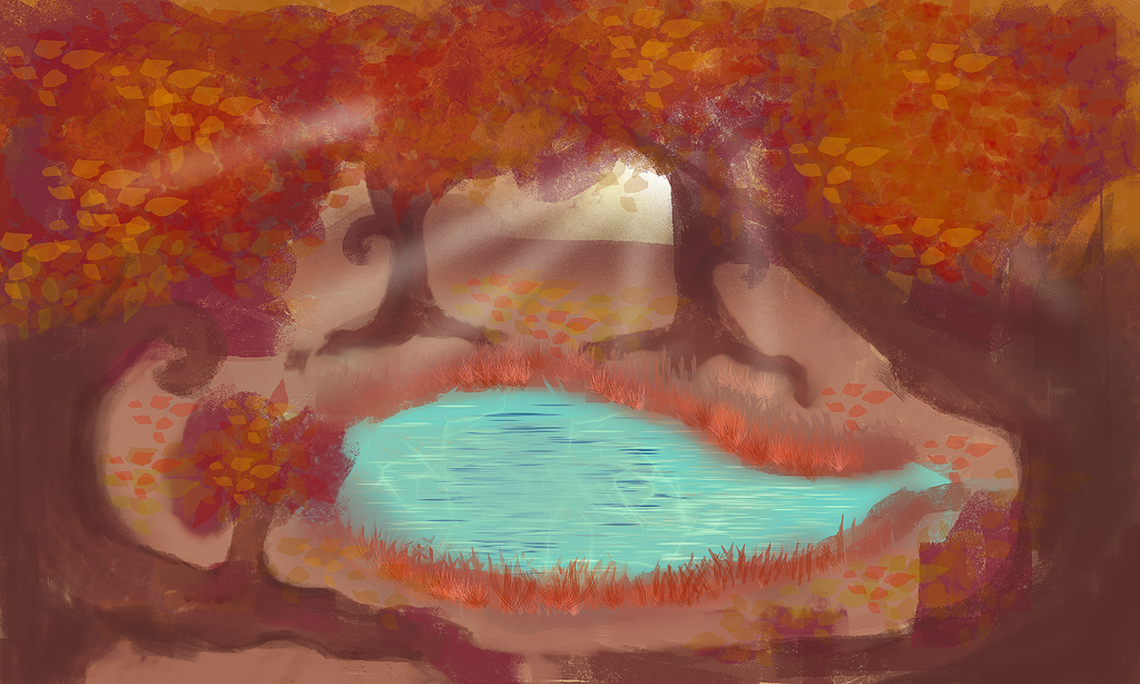 Autumn Forest Lake by AsharaEarthsoul