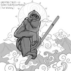 INKTOBER- Undying Tales #10 - Monkey