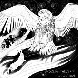 INKTOBER- Undying Tales #12 -Snowy Owl