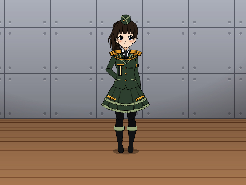 Military Cutie by vampiregirl123456