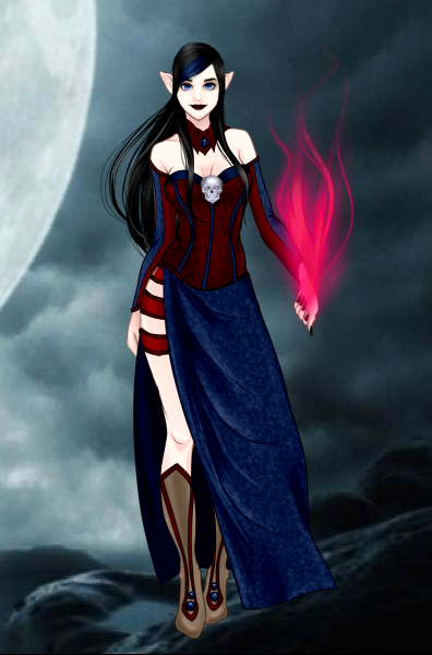 Dark Mage Emma by vampiregirl123456