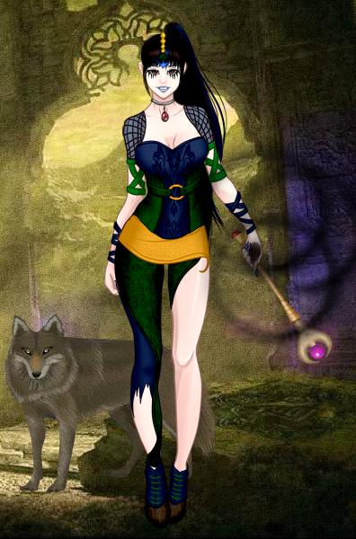 Dark Mage Hannah by vampiregirl123456