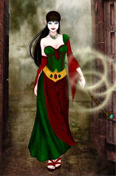 Dark Mage Rania by vampiregirl123456
