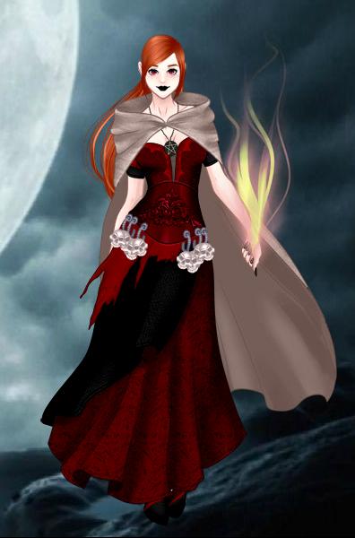 Dark Mage Liz by vampiregirl123456