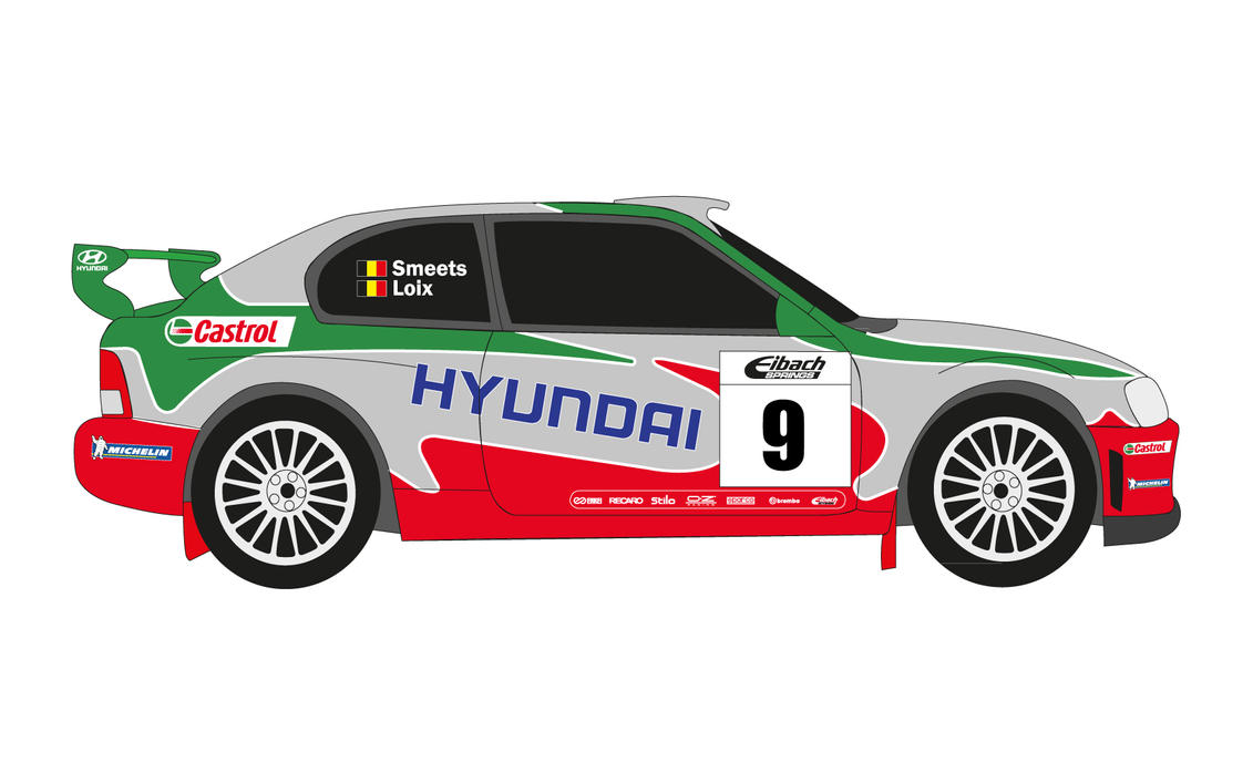 2018 Hyundai Accent Preview >> 2003 Hyundai Accent WRC Evo 3 by SuperSaiyen4 on DeviantArt