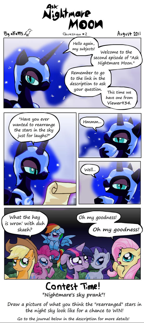 Ask Nightmare Moon 2 by alfa995