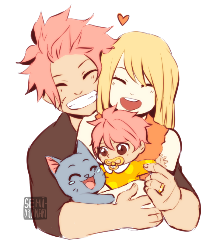 Natsu and Lucy Family by semi-ordinary on DeviantArt