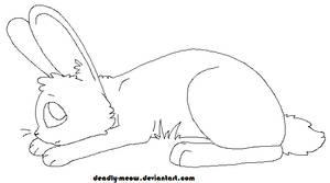 Bunny Lineart