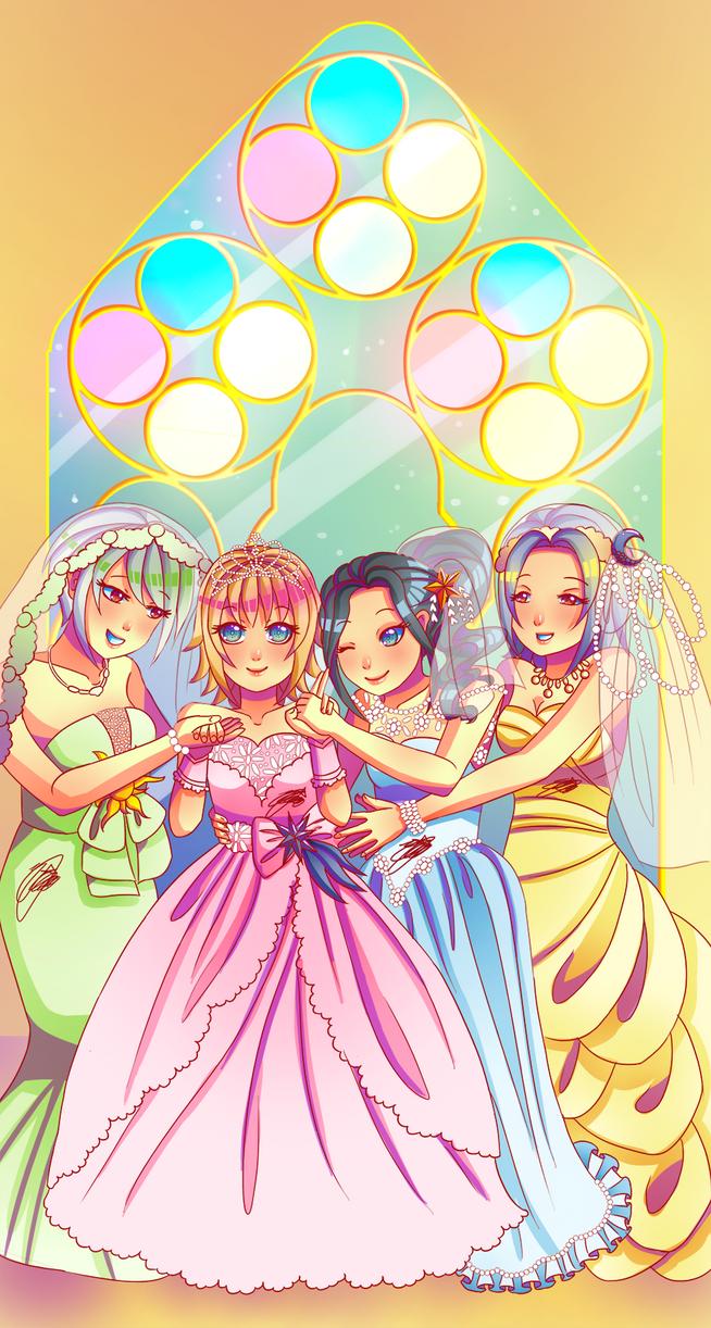 - Commission: Girls' Marriage - by Yukiko-Kun