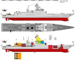 Admiral Ushakov Cruiser Pr 23500 by NascimentoBR