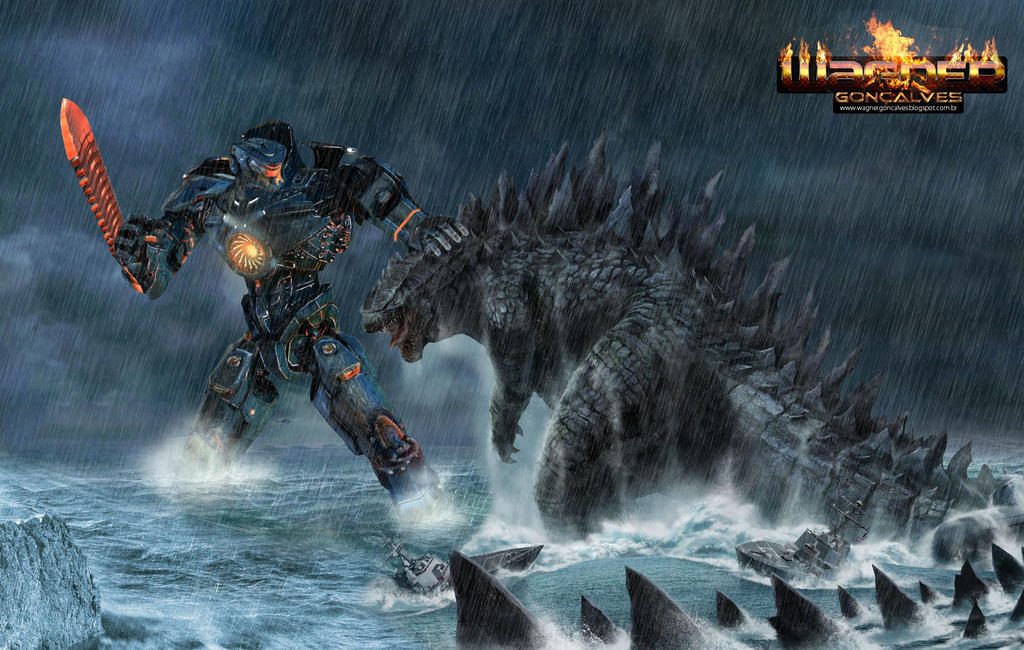 Gipsy Danger (Pacific Rim) vs Godzilla by ... Pacific Rim Vs Godzilla