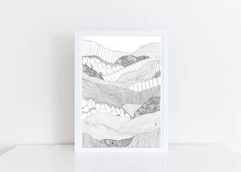 Landscape 1 in White Frame