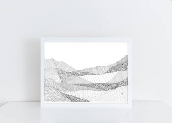 Landscape 2 in White Frame