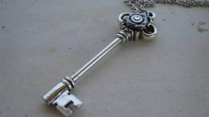 Steampunk Silver Key