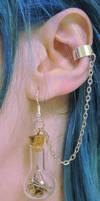 Steampunk Time In A Bottle Ear Cuffs