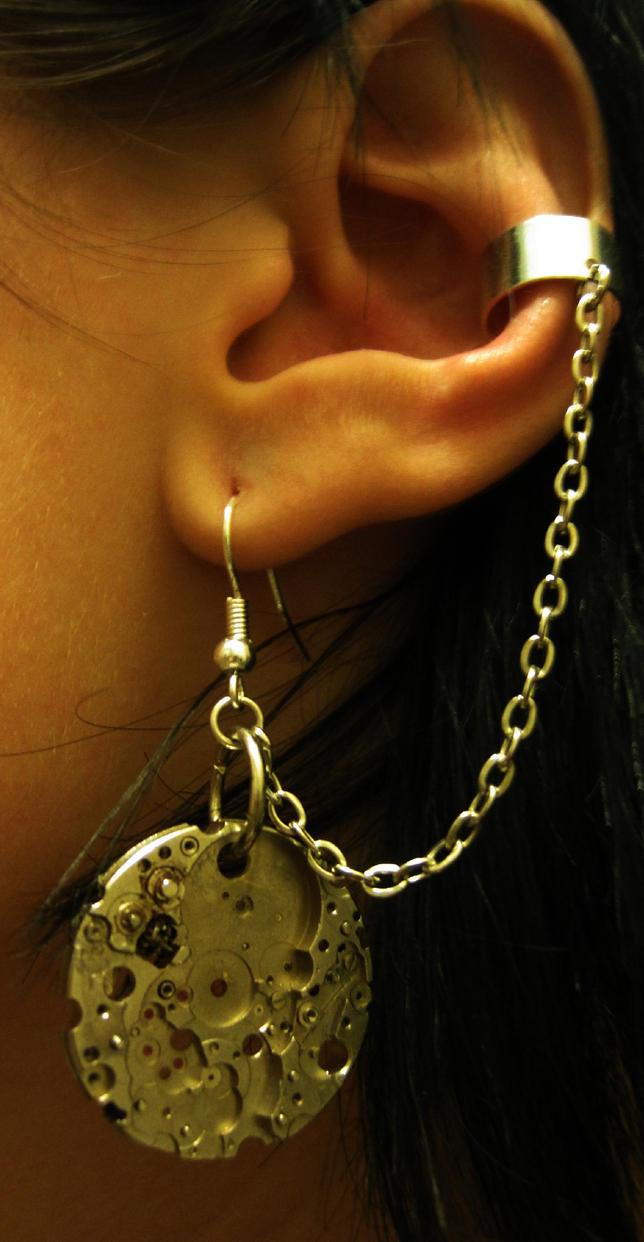 Steampunk Ear Cuff by PunkTrunk