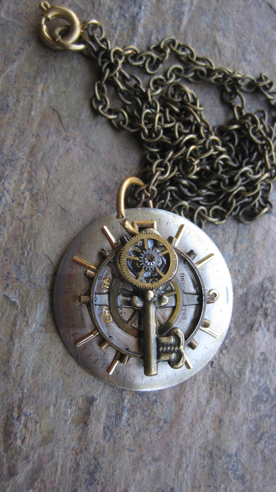 Steampunk Key Pendant by PunkTrunk