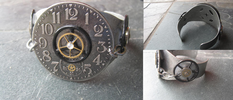 Metal Steampunk Bracelet by PunkTrunk