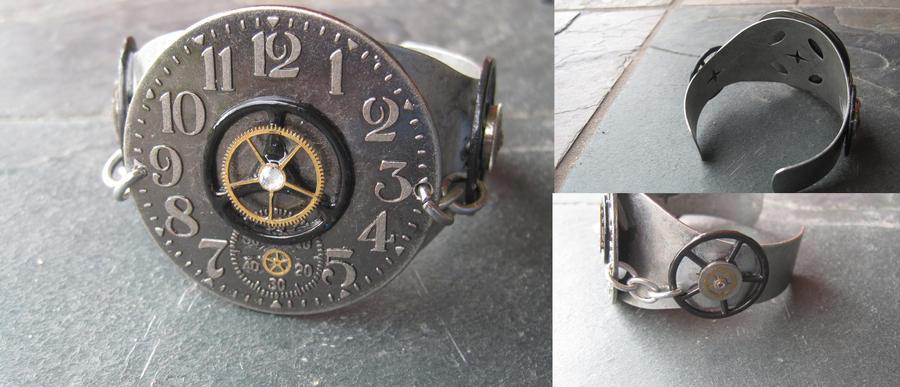 Metal Steampunk Bracelet by PunkTrunk