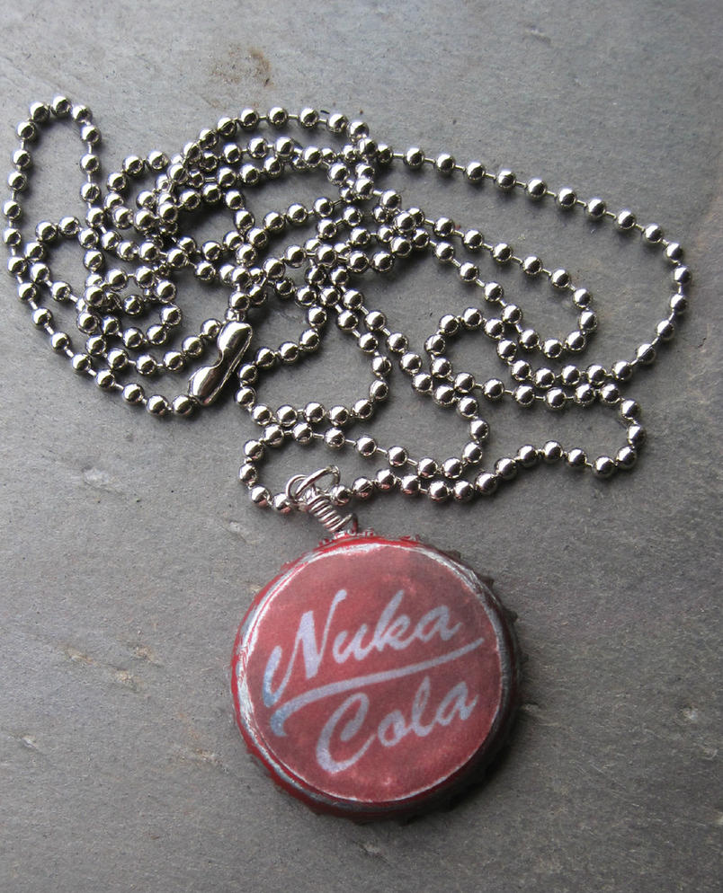 nuka cola bottlecap necklace by punktrunk on deviantart
