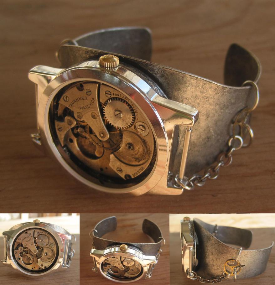 Clock Insides Bracelet by PunkTrunk