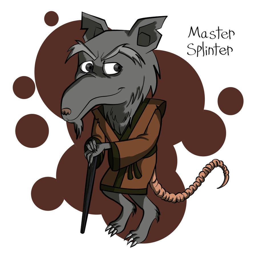 Master splinter chibi by piddies0709 on deviantart - Rat tortues ninja ...