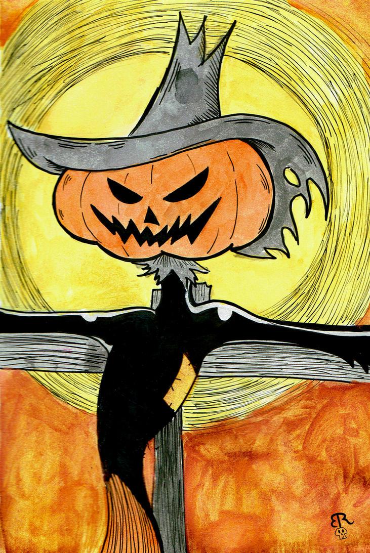 Inktober-Pumpkin Grin by Piddies0709