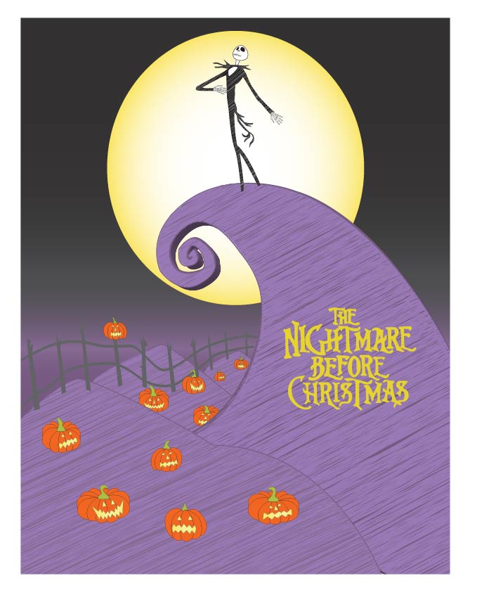 nightmare before christmas poster by ovejanegra11 - The Nightmare Before Christmas Poster