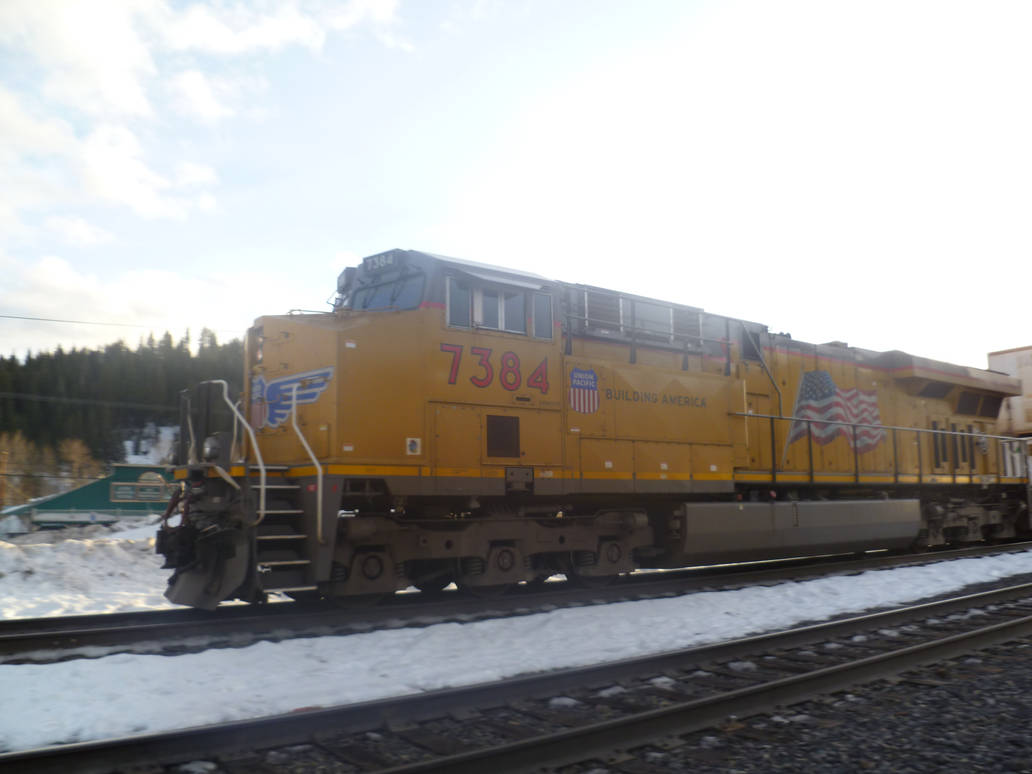 UP ES44AC 7384 by BNSF on DeviantArt