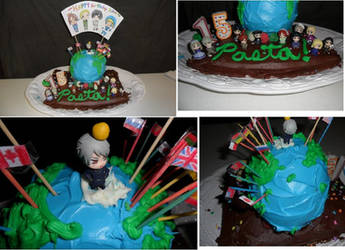 My Hetalia cake by ZeldaKinz
