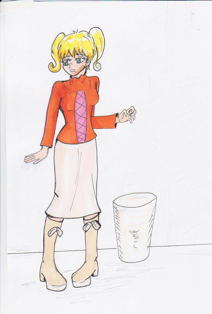 Girl in Orange by rufferto9