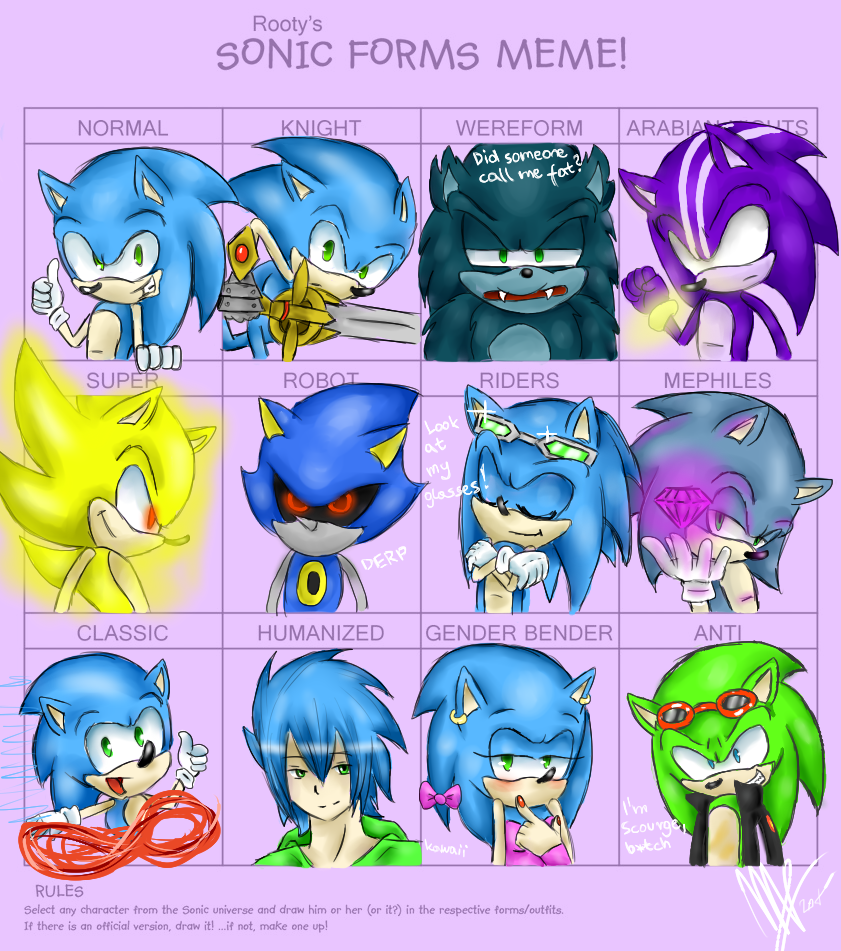 Sonic Forms: Sonic Forms Meme! By BunBunBoo On DeviantArt