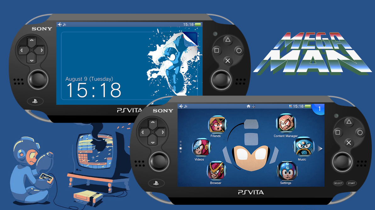 Megaman [PS Vita Custom Theme] by TrNxSLAYER