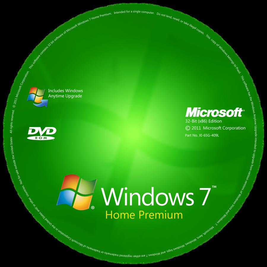 windows 7 disc label by prasil on deviantart. Black Bedroom Furniture Sets. Home Design Ideas