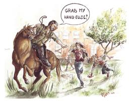 The last of us: Grab my hand Ellie