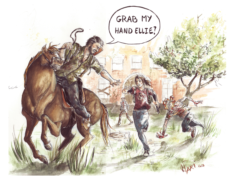 The last of us: Grab my hand Ellie by OliviaMorganXXI