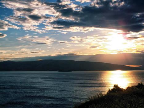 Sunset at the Adriatic Sea