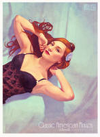 Maria Caravaca Pin-Up Detail by Odewill