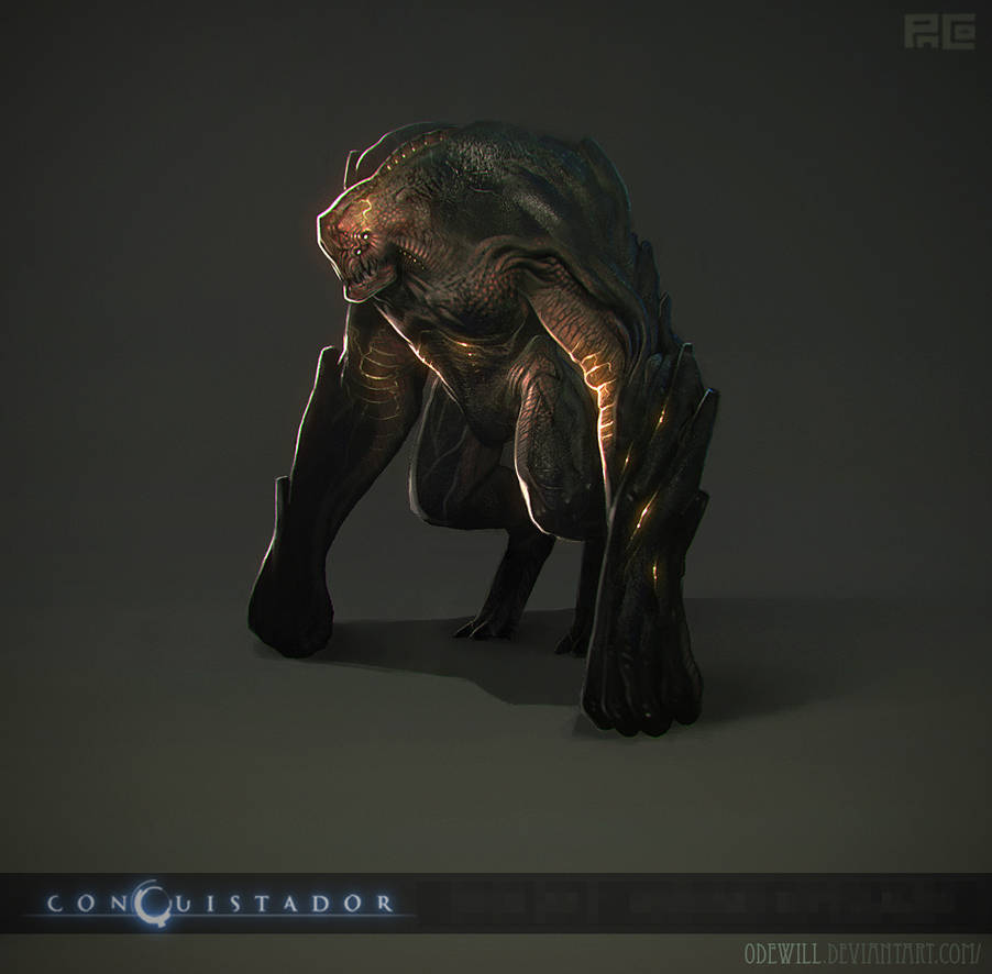 [Conquistador]-alien mid kopeslagen by Odewill