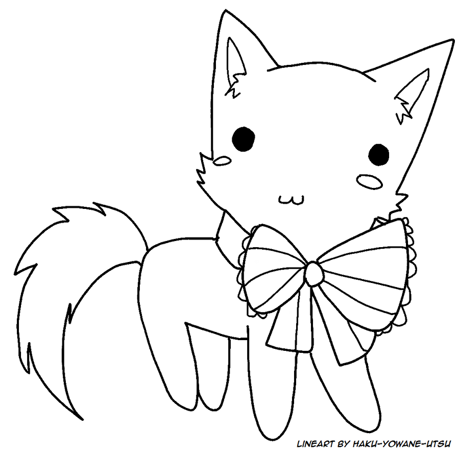 Cute Chibi Kitty Chibi Kitty Free Lineart ms