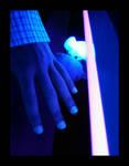 Blue rose hand