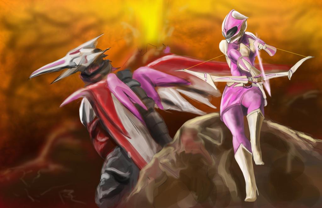Pink Ranger by goldenmurals on DeviantArt