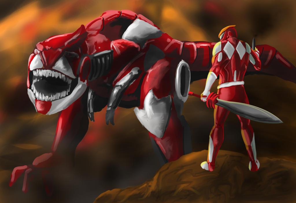 Red Ranger by goldenmurals on DeviantArt