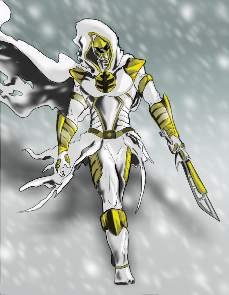 White Ranger Ninja by goldenmurals on DeviantArt