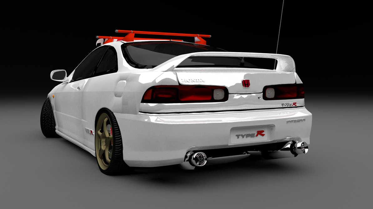 honda integra type r rear by jessegroves on deviantart. Black Bedroom Furniture Sets. Home Design Ideas