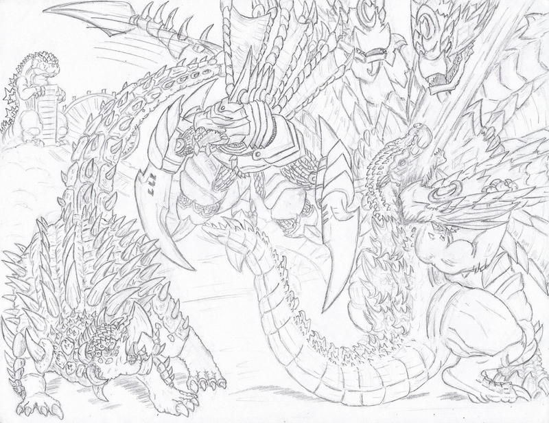 Godzilla Vs Gigan Take Two By Deadpoolrus